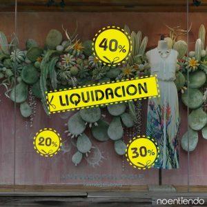 Vinilo de liquidación y descuentos para vidriera